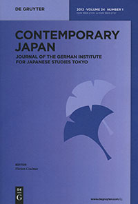 Contemporary Japan 24, No. 1