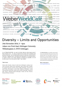 Diversity – Limits and Opportunities