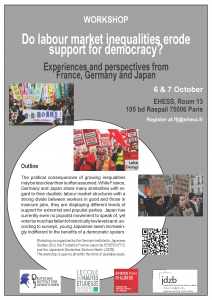 Do labour market inequalities erode support for democracy? Experiences and perspectives from France, Germany and Japan