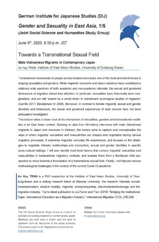 Towards a Transnational Sexual Field: Male Vietnamese Migrants in Contemporary Japan
