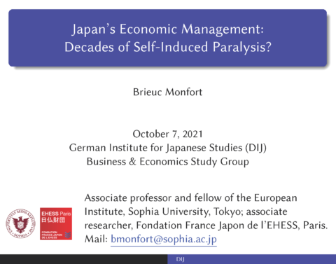 Japan's economic management: decades of self-induced paralysis?