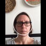 Celia responding to her daily video call